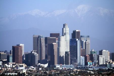 Los Angeles está localizado no centro-sul da Califórnia