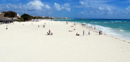 Playa del Carmen, localizada no Sudoeste do México